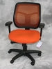 Eurotech - Apollo mesh back desk chair with orange fabric seat #478