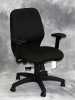 Eurotech - Aviator midback office chair all black fabric #479