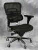 Eurotech - Mid-back Ergohuman ergonomic black mesh multifunction executive chair with chrome frame #480