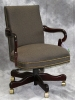Indiana Furniture - Amery royal mahogany wood management chair with odalisque wrought fabric #481