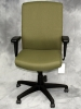 Instant Seating - Highback executive conference chair adjustable arms vine green fabric #489