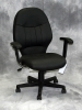 Boss - Mid-back vinyl black desk chair #490