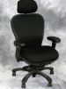 Nightingale - CXO executive multifunction chair black mesh back with headrest black fabric seat #491