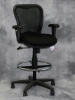 Nightingale - CXO mesh back drafting stool with black fabric seat #492