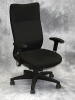 Nightingale - W-series high back executive chair black fabric adjustable arms #493