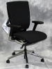 Trendway - T51 task chair black fabric polished aluminum base #494