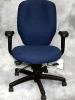 United Chair - Management chair with adjustable arms and back seat slider adjustment blue fabric #501