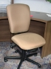 United Chair - Radar armless task chair with basketa fawn fabric #504