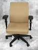 United Chair - Saggio desk chair with black base and arms (zinc fabric) #507