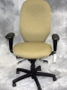 United Chair - Savvy executive high-back chair with adjustable arms and leaf fabric #508