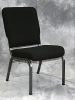 Bertolini - Church chair black fabric metal frame 584