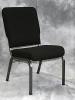 Bertolini - Church chair black fabric metal frame 584