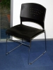 Boss - B1400 black stack chair metal frame 585