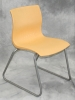 ERG International - Yellow shell armless guest chair 586