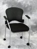Eurotech - Breeze guest chair with casters black shell back black fabric seat 587