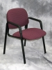 HON - Solutions black frame burgundy fabric side chair 588