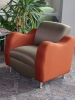 HPFI - Claudia contemporary club/lounge chairs orange and gold fabric