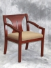 Indiana Furniture - Alita guest chair cherry wood finish chance harvest fabric 590