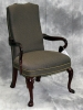 Indiana Furniture - Amery high back guest chair royal mahogany wood odalisque wrought fabric 591