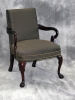 Indiana Furniture - Amery royal mahogany traditional guest chair odalisque wrought fabric 592