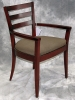 Indiana Furniture - Elara side chair slat back autumn cherry fabric seat 595