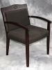 Indiana Furniture - Klarete wood guest chair mahogany on walnut finish fabric seat and back 599