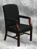 Indiana Furniture - Reminisce wood guest chair royal mahogany and dandy black fabric 602