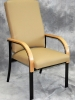 IOA - Paola highback healthcare waiting room chair with tan vinyl 604