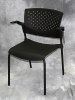 Nightingale - Butterfly modern black stacking side chair 605