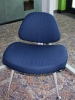 Nightingale - Smurk metal frame guest waiting chair in blue fabric 607