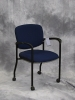United Chair - Brylee guest chair with casters navy blue fabric 611