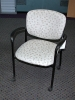 United Chair - Brylee guest chair with arms and casters sands fabric / black frame 612