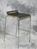 VDS International - Noa modern barstool chrome frame wenge seat 615