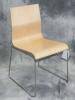 VDS International - Raja sled base guest chair chrome frame MBE beech melamine 616