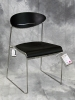 VDS International - Sari sled base side chair black plastic chrome frame 617
