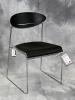 VDS International - Sari sled base side chair black plastic chrome frame 617
