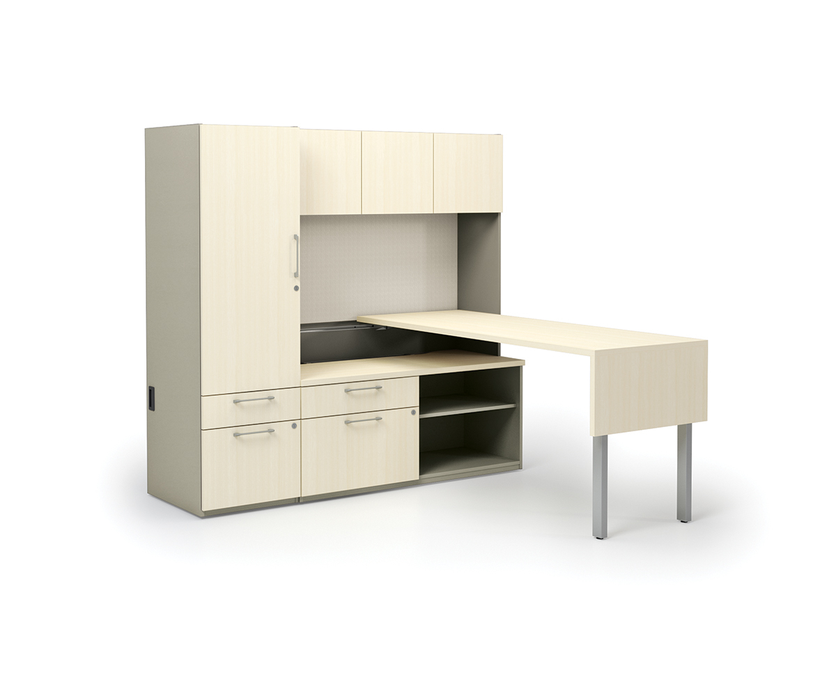 ABCO Keel Series laminate surface office desk suite