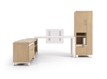 Artopex Air Line laminate office desk suite