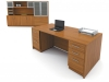 Artopex Take Off series laminate desk suite with two pedestals for storage
