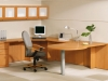 Encompass Series office desk suite with storage Indiana Furniture