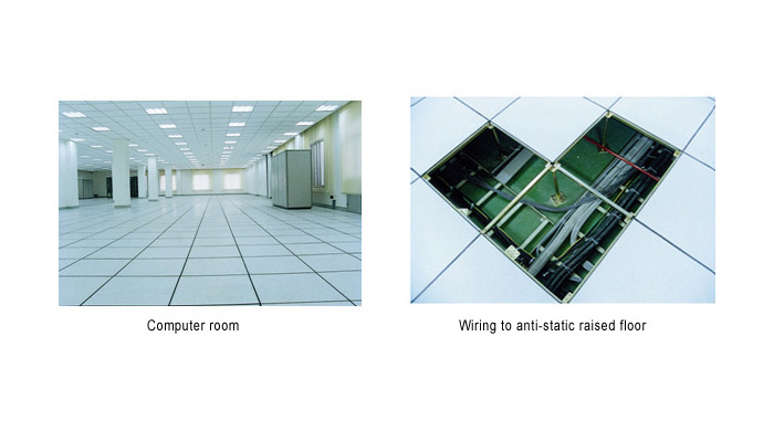Anti-static raised access flooring ideal for data server and computer rooms