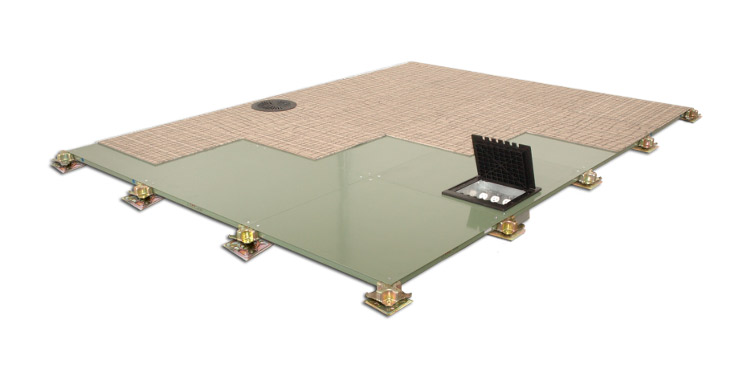 Low profile raised access flooring