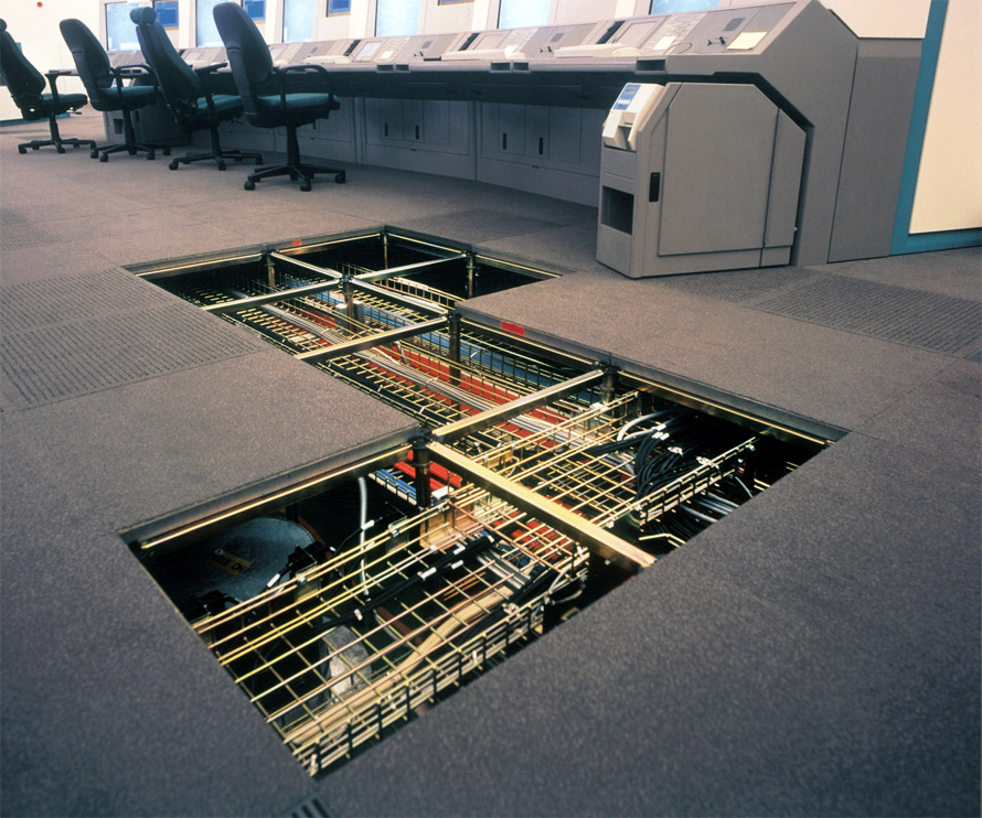 Raised access flooring under floor air distribution (UFAD)