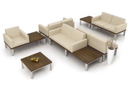 Artopex Lancelot series lounge and waiting room seating and tables