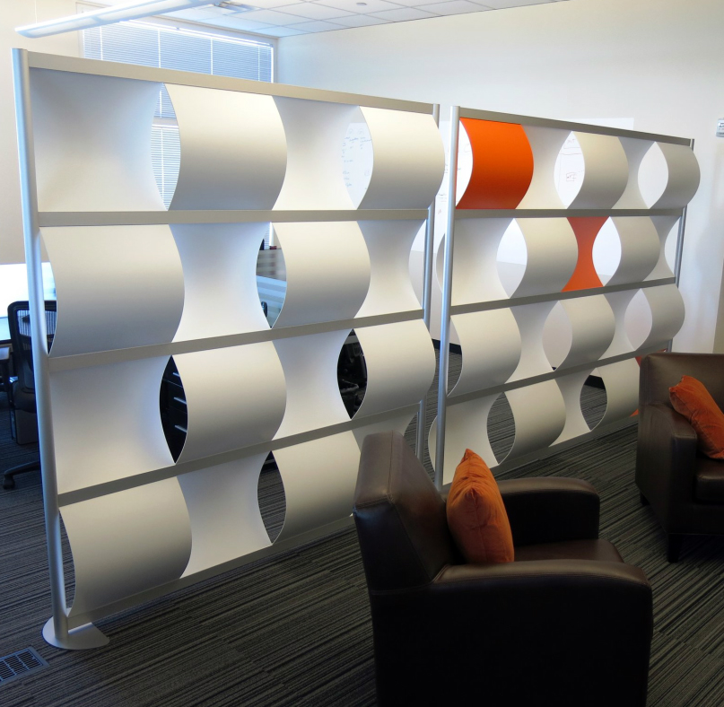 Loftwall Wave pattern wall - freestanding modern room divider