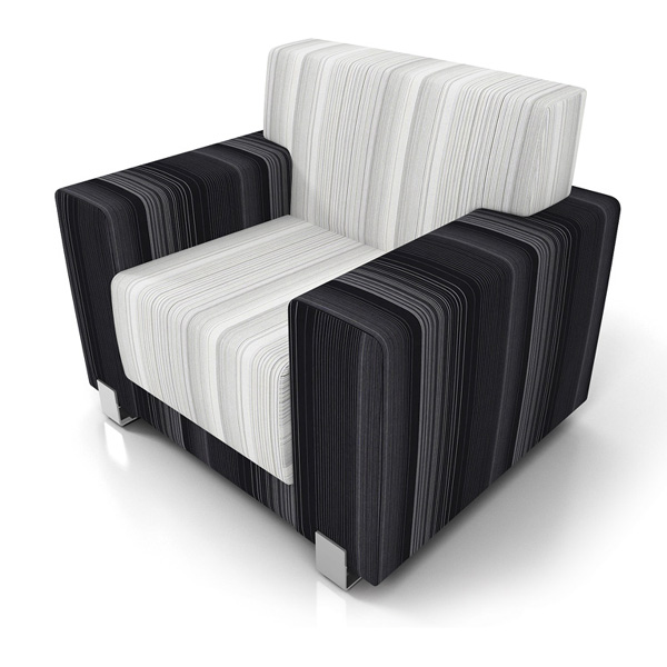 Artopex Perceval lounge chair - two fabrics