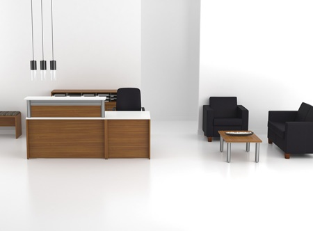 Artopex reception desk and Lancelot lounge seating