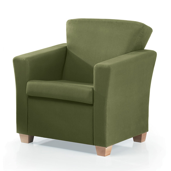 Artopex Porthos lounge seat with wood legs