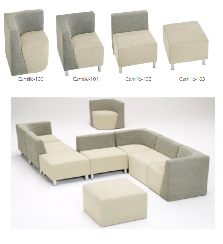 Contemporary lounge seating - Camille series by Beaufurn