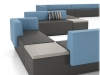 Modular lounge seating - Downtown series by Artopex